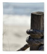 Beach Barrier Fleece Blanket