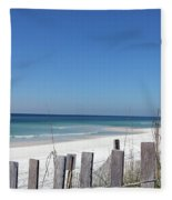 Beach Behind The Fence Fleece Blanket
