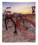 Beach Bike Fleece Blanket