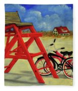 Beach Bikes Fleece Blanket