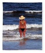 Beach Blonde - Digital Art Fleece Blanket