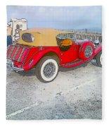Beach Car Fleece Blanket