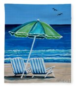 Beach Chair Bliss Fleece Blanket