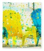 Beach Chair Print Fleece Blanket