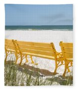 Beach Chairs By Darrell Hutto Fleece Blanket