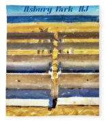 Beach Closed Asbury Park Nj Fleece Blanket