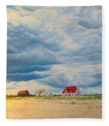 Beach Clouds Fleece Blanket