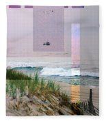 Beach Collage 3 Fleece Blanket