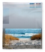 Beach Collage Fleece Blanket