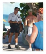 Beach Cops And Christ Fleece Blanket
