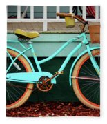 Beach Cruiser Bike Fleece Blanket