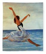 Beach Dancer Fleece Blanket