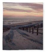 Beach Entrance Lbi New Jersey Vintage  Fleece Blanket