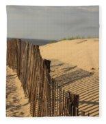 Beach Fence, Cape Cod Fleece Blanket