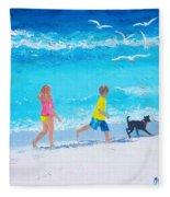 Beach Fun Fleece Blanket