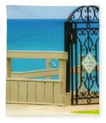 Beach Gate Fleece Blanket