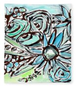 Beach Glass Flowers 1- Art By Linda Woods Fleece Blanket
