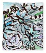 Beach Glass Flowers 2- Art By Linda Woods Fleece Blanket