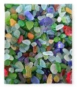 Beach Glass Mix Fleece Blanket
