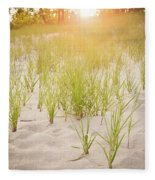 Beach Grasses Number 3 Fleece Blanket