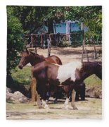 Beach Horses Fleece Blanket