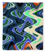 Beach Hotel Abstract 8102-3 Fleece Blanket