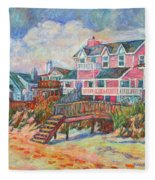 Beach Houses At Pawleys Island Fleece Blanket