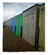 Beach Huts Fleece Blanket