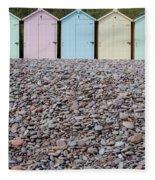 Beach Huts X Fleece Blanket