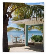 Beach In Grand Turk Fleece Blanket