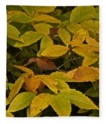 Beach Leaves Fleece Blanket