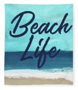 Beach Life- Art By Linda Woods Fleece Blanket
