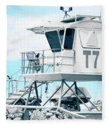 Beach Lifeguard Tower Fleece Blanket