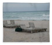 Beach Loungers Fleece Blanket