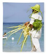 Beach Man Fleece Blanket