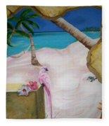 Beach Mural Fleece Blanket