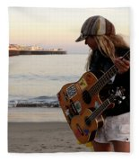 Beach Musician Fleece Blanket