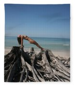 Beach Ngirl Fleece Blanket