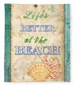 Beach Notes-jp3761 Fleece Blanket