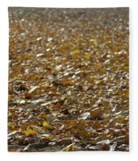 Beach Of Autumn Leaves Fleece Blanket