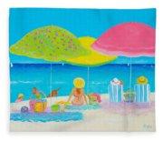 Beach Painting - Beach Life Fleece Blanket
