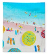 Beach Painting - Lazy Lingering Days Fleece Blanket