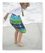 Beach Play Time Fleece Blanket