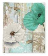 Beach Poppies Iv Fleece Blanket