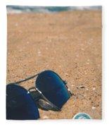 Beach Retro Fleece Blanket