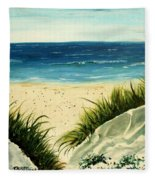 Beach Sand Dunes Acrylic Painting Fleece Blanket