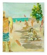 Beach Scence Fleece Blanket