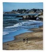Beach Scene California  Fleece Blanket