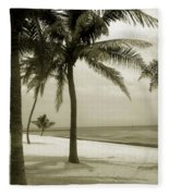 Beach Scene In Key West Fleece Blanket