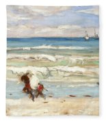 Beach Scene Tangier Fleece Blanket
